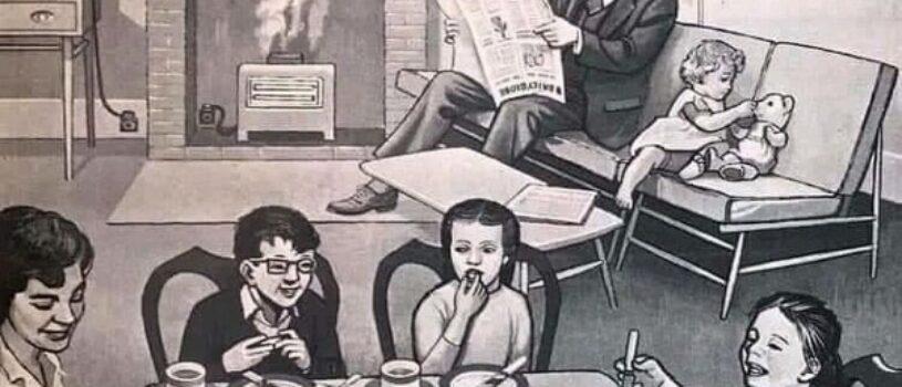 Что не так с семьей на картинке: занятная ретро-головоломка из 50-х снова в большом спросе в соцсетях