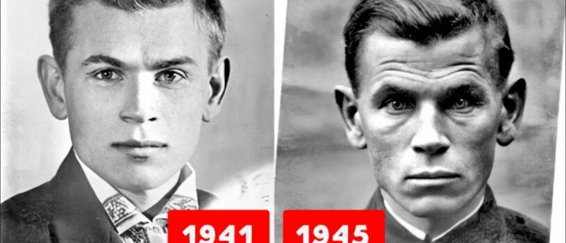 Два фото советского солдата, сделанные в 1941 и 1945 годах: что он пережил и почему так изменился